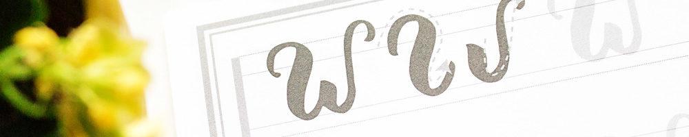 Pinselstifte zum Lernen von Handlettering