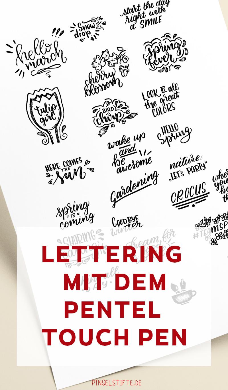 Lettering mit dem Pentel Touch Pen